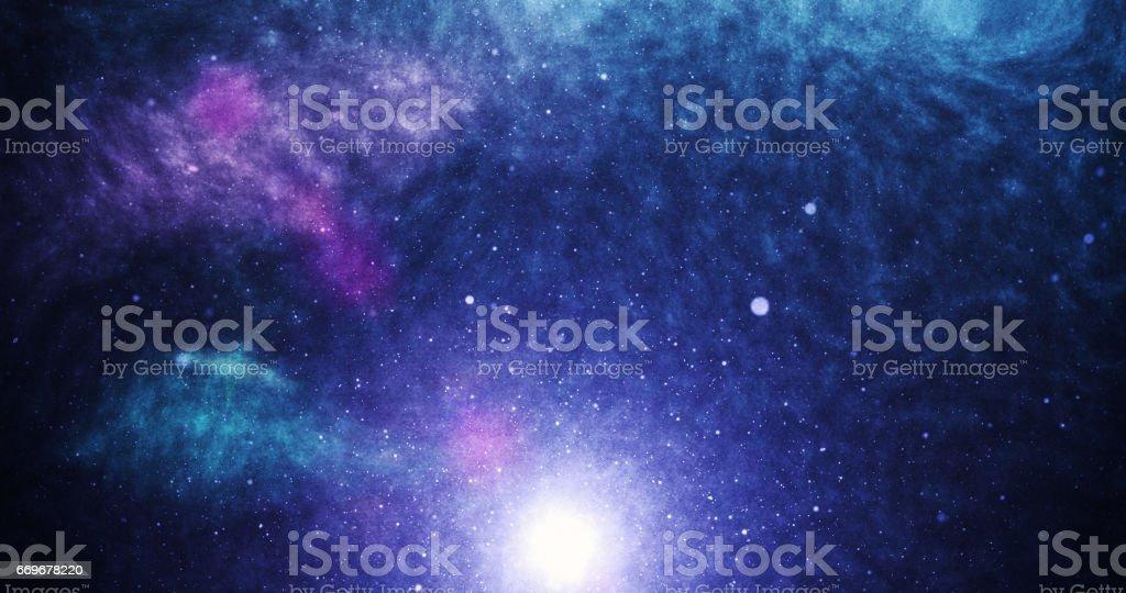 Universe purple stock photo