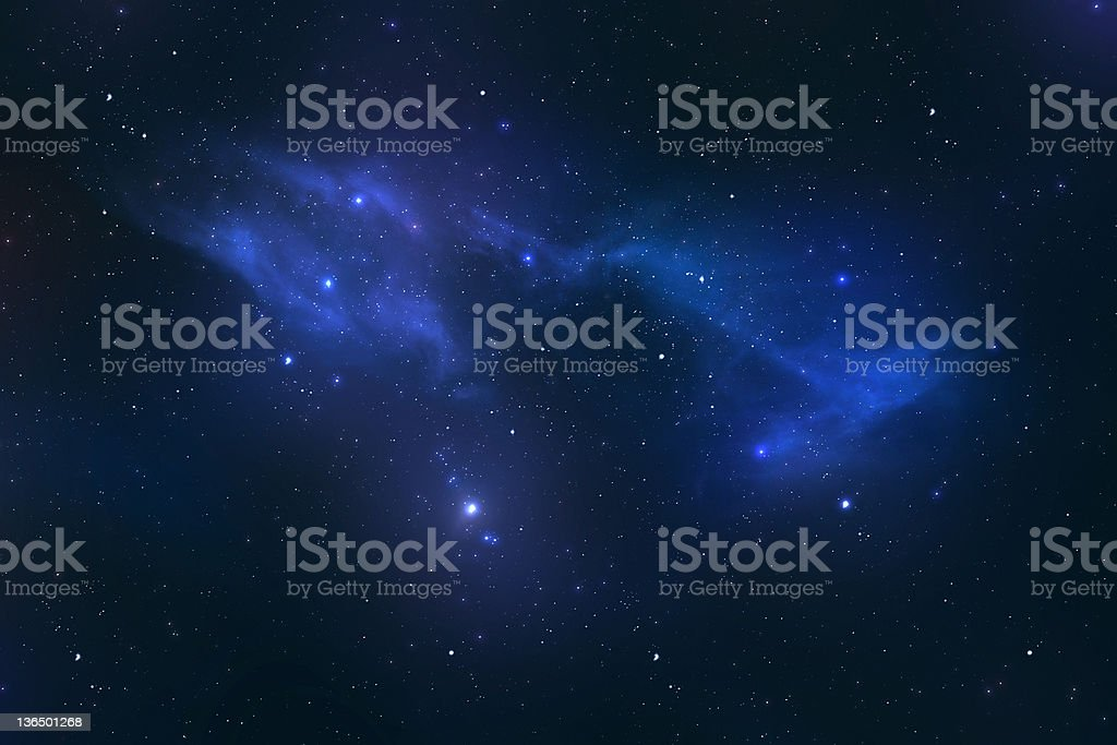Universe with stars and galaxy royalty-free stock photo