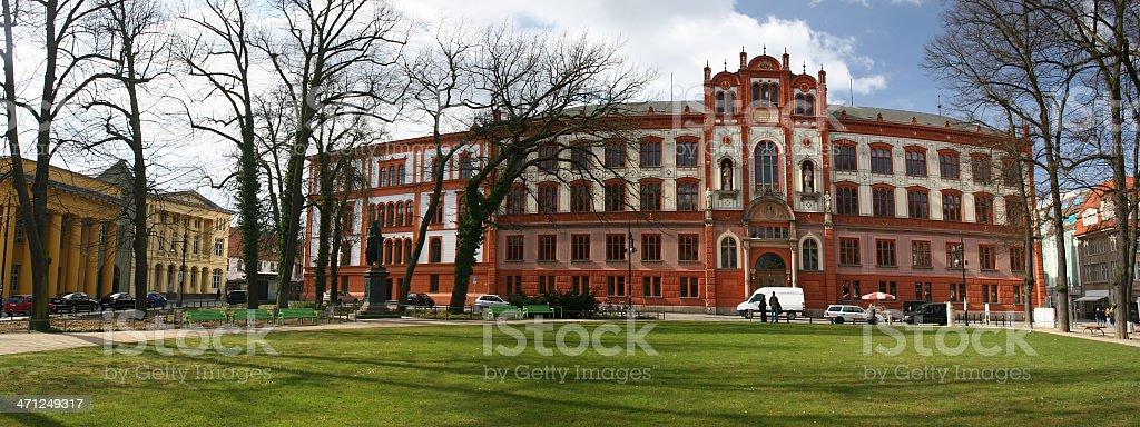Universitätsplatz in Rostock royalty-free stock photo