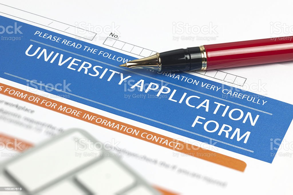 University Application Form stock photo