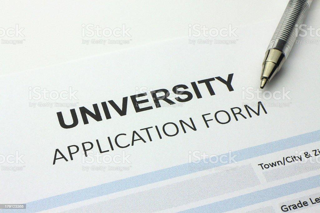 University application form royalty-free stock photo