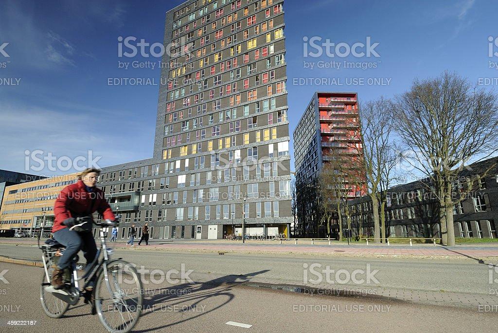 University campus the Uithof in Utrecht royalty-free stock photo
