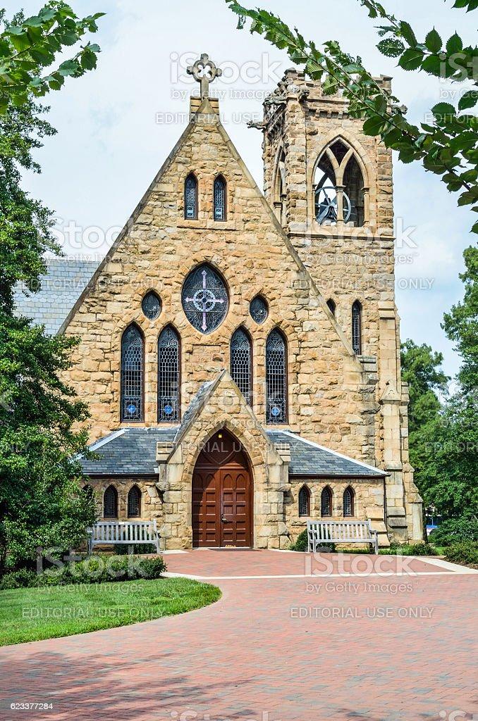 University Chapel church on Virginia campus stock photo