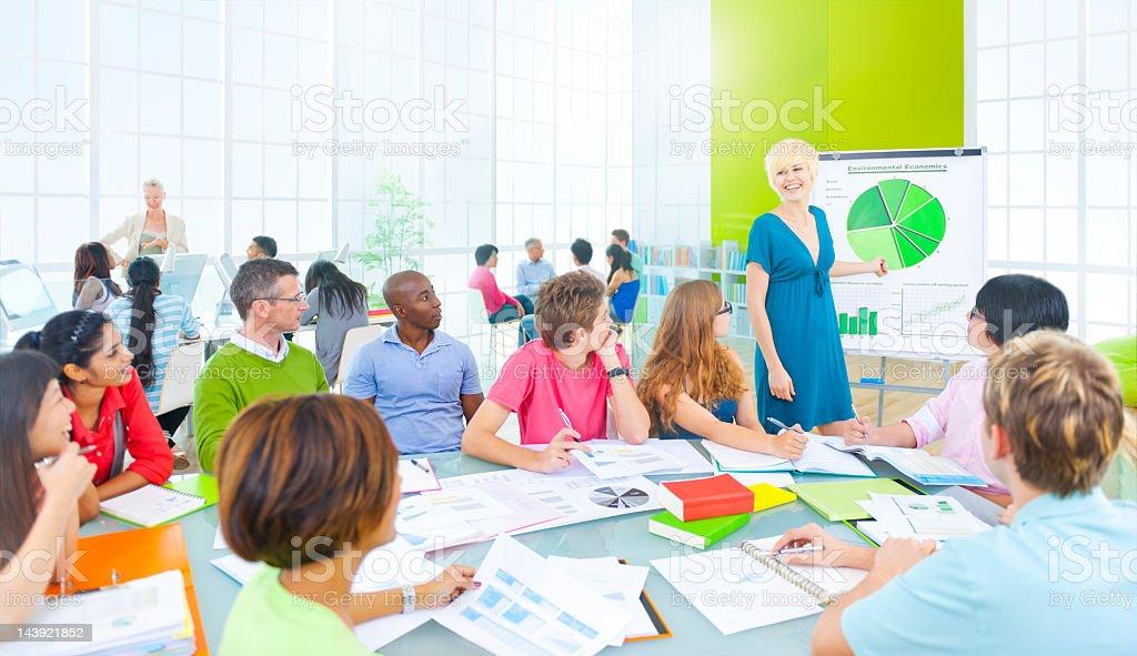 University class listening to presentation. royalty-free stock photo