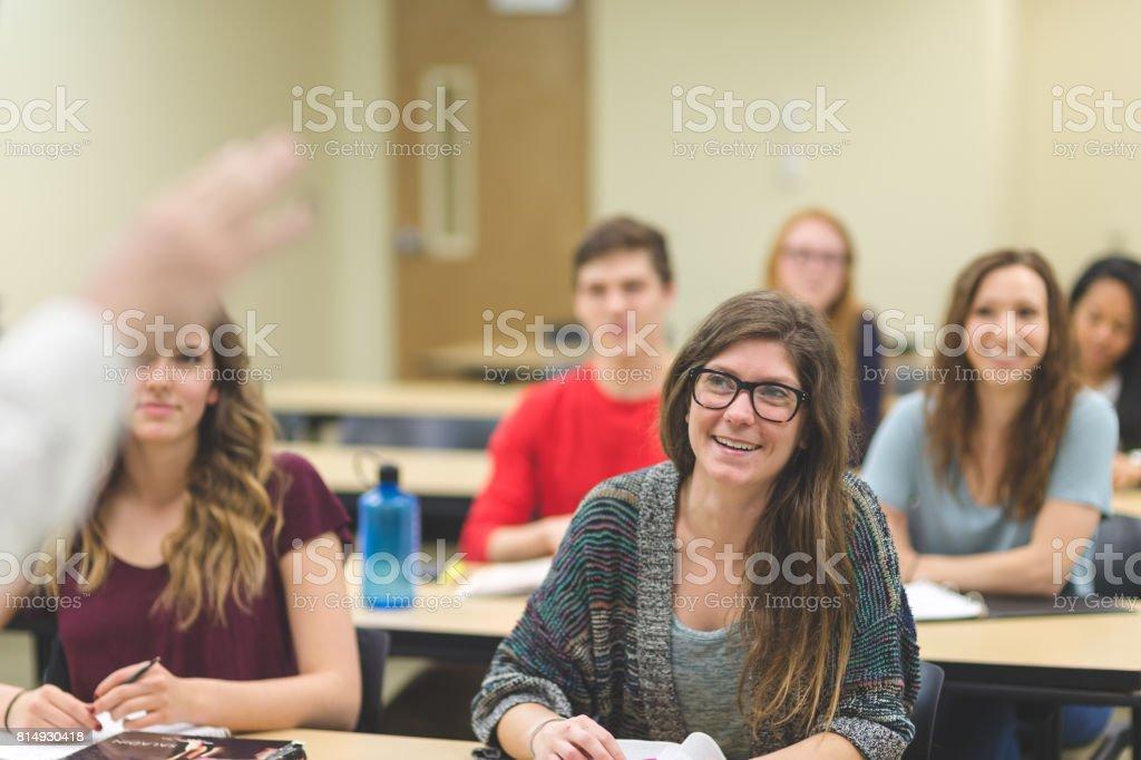 University Classroom stock photo