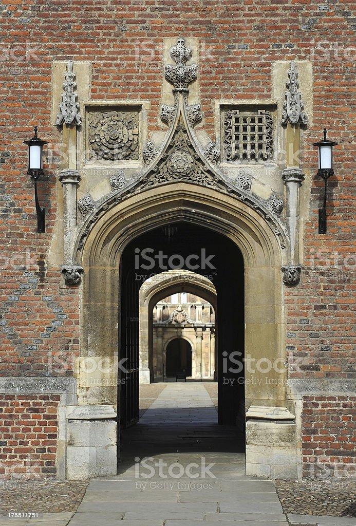 University entrance stock photo