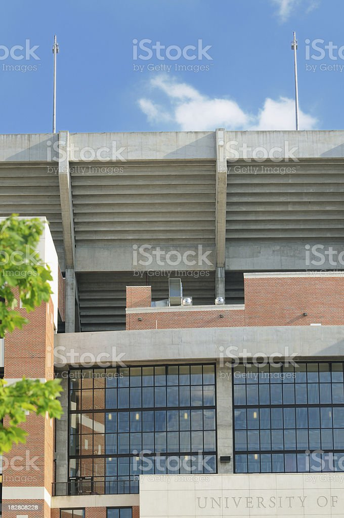 University football stadium royalty-free stock photo