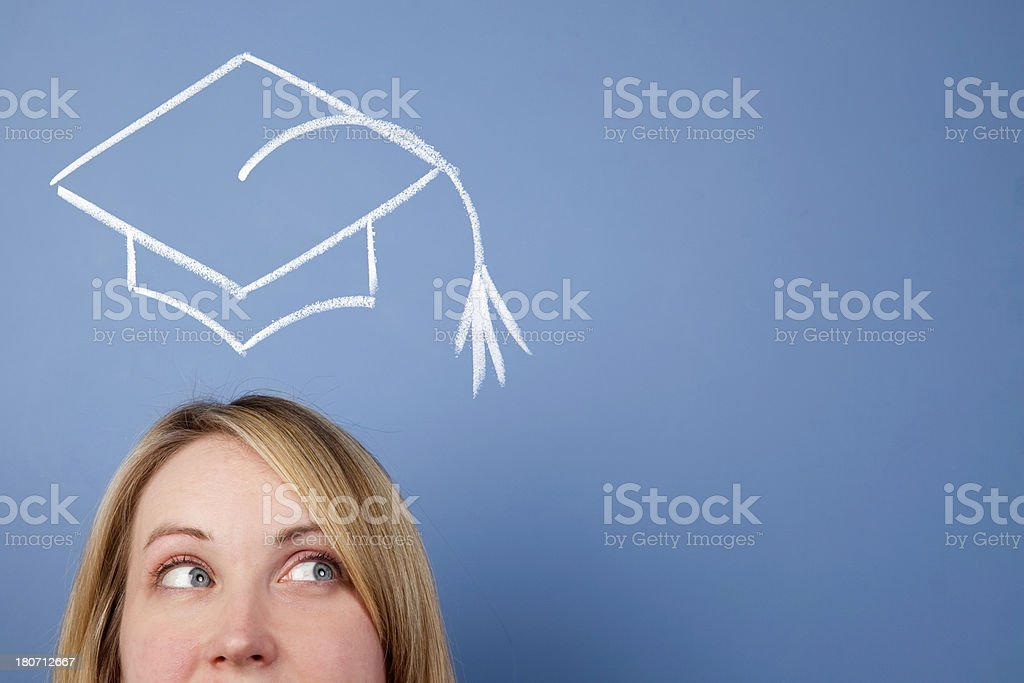 University graduate stock photo