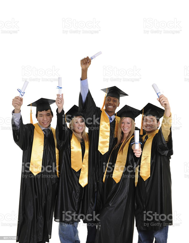 University Graduates royalty-free stock photo