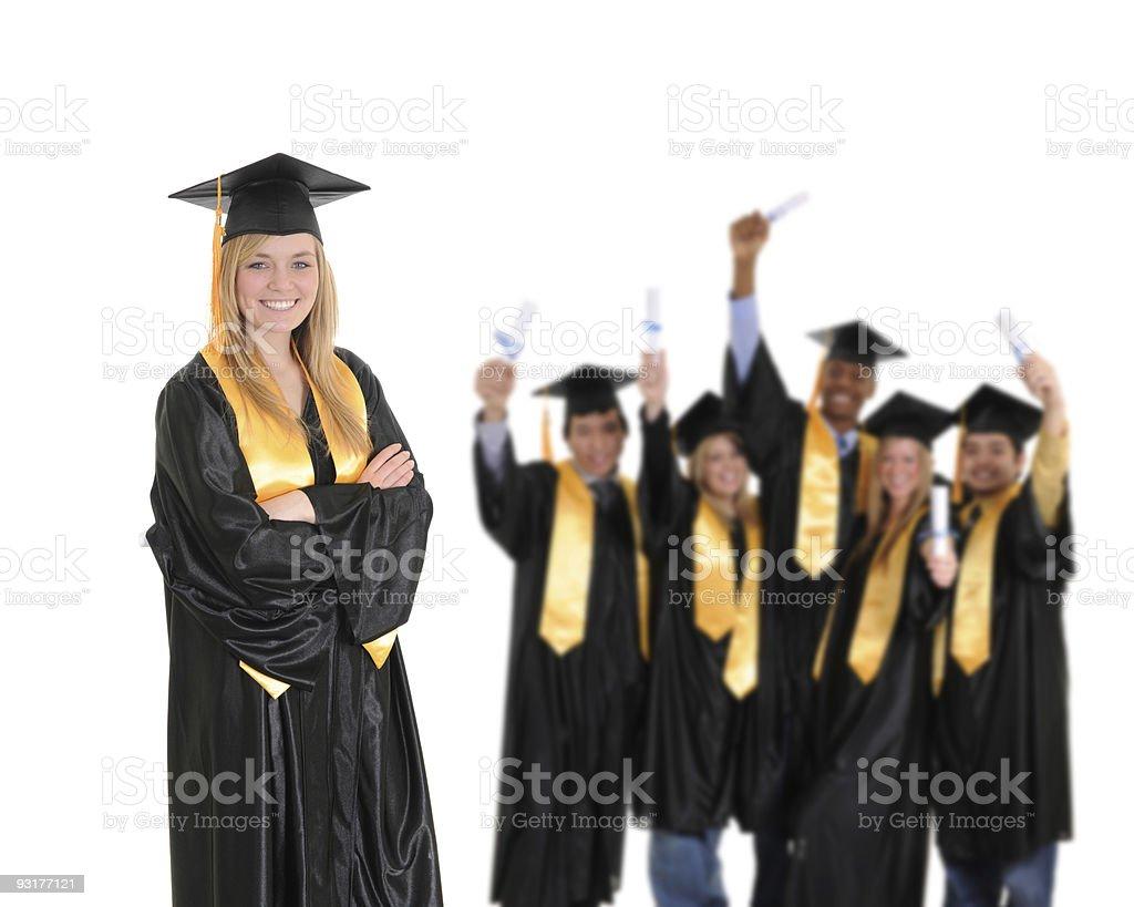 University Graduates royalty-free stock photo