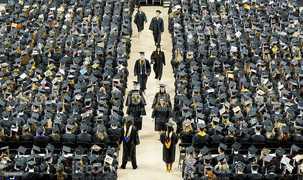University Graduation Ceremony stock photo
