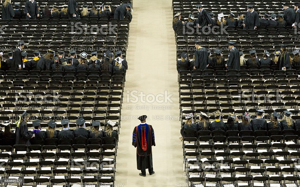 University Graduation Ceremony stock photo