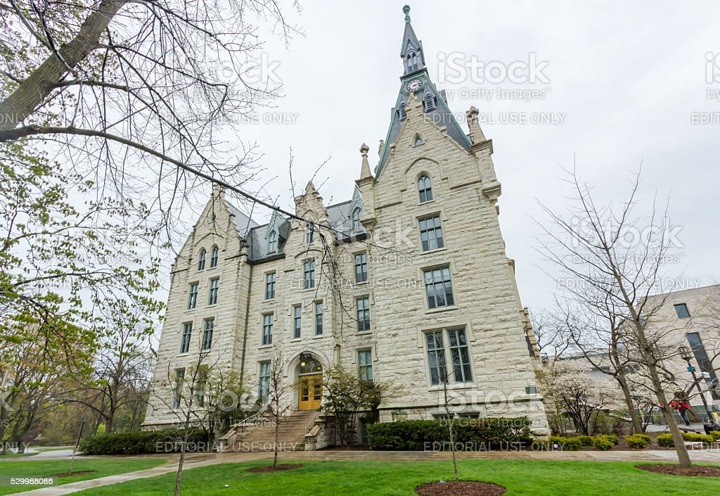 University Hall at Northwestern stock photo