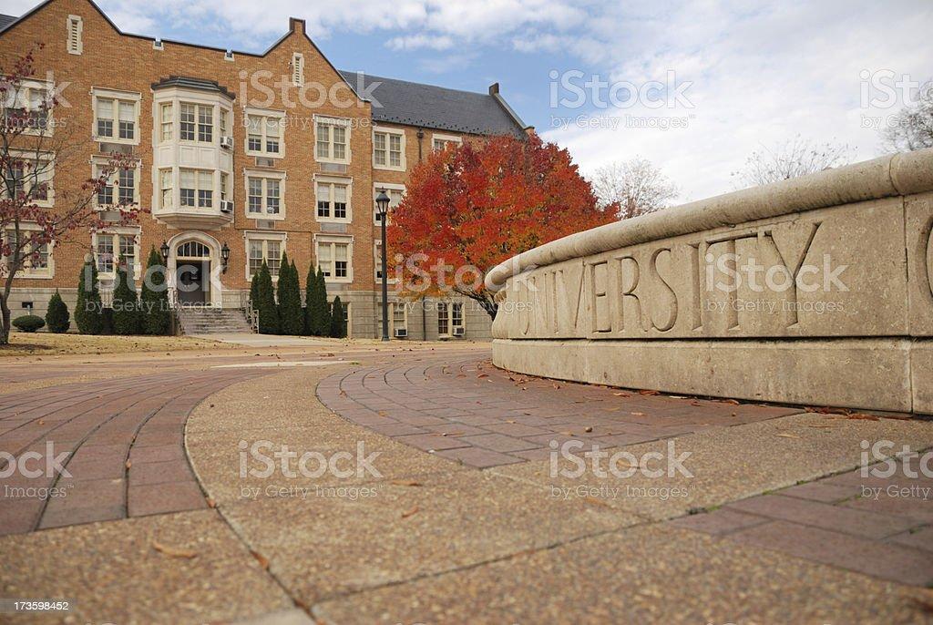University in Autumn stock photo