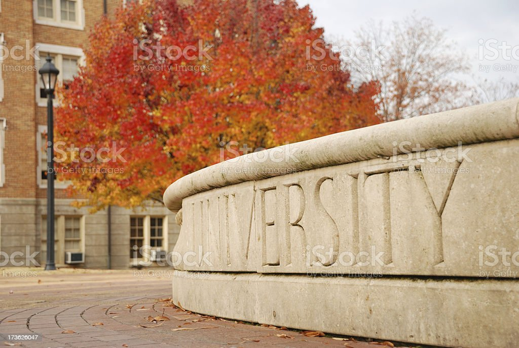 University in Autumn stock photo