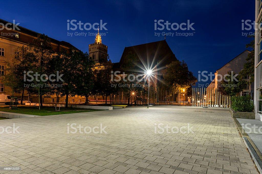 University in downtown Frankfurt Oder stock photo