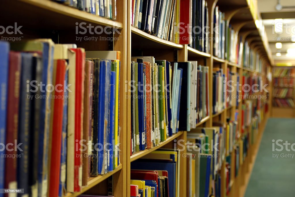 University library royalty-free stock photo