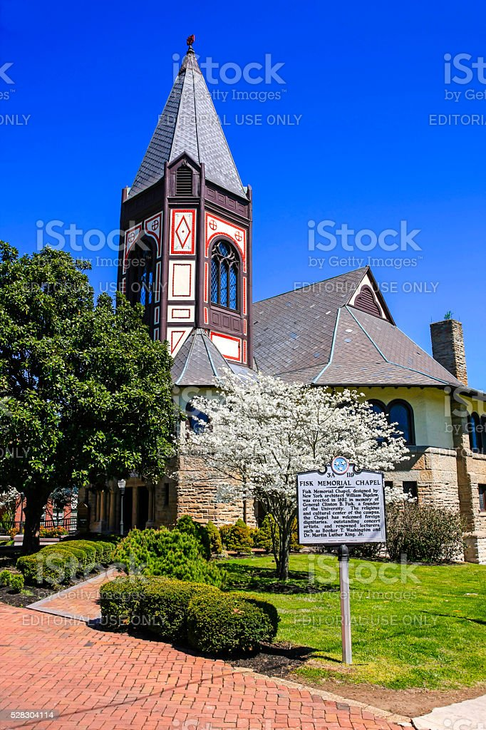 University Memorial Chapel on Fisk University campus in Nashville TN stock photo