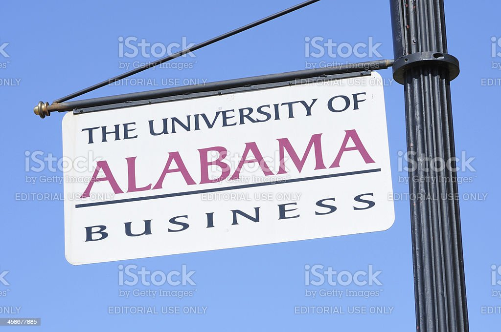 University of Alabama Business sign stock photo