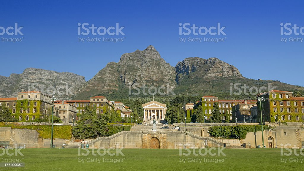 University of Cape Town campus & rugby field stock photo