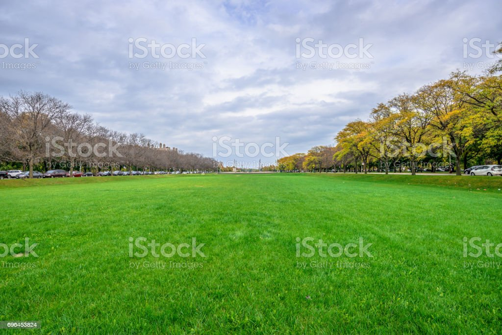 University of Chicago - Midway Plaisance stock photo