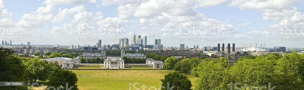 University of Greenwich Panorama stock photo