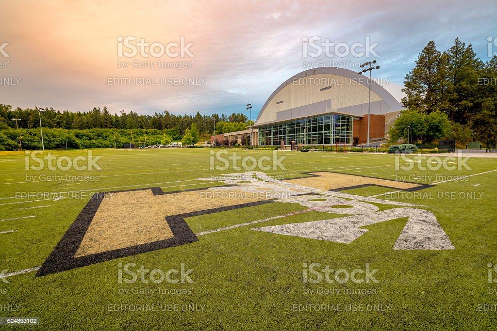 University of Idaho football Dome and practive field stock photo