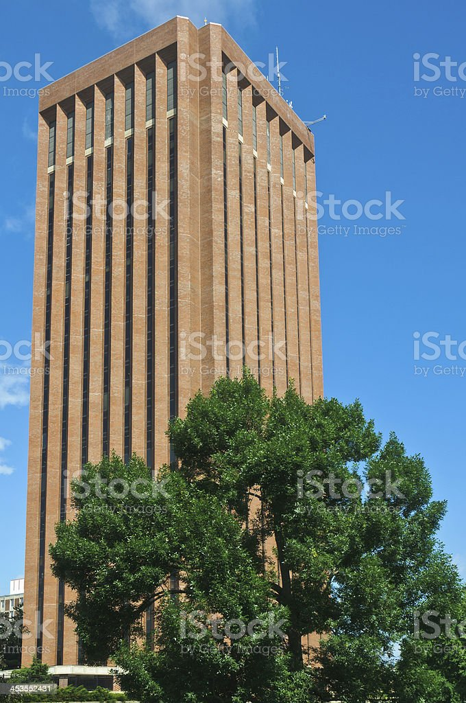 University of Massachusetts Campus Library stock photo