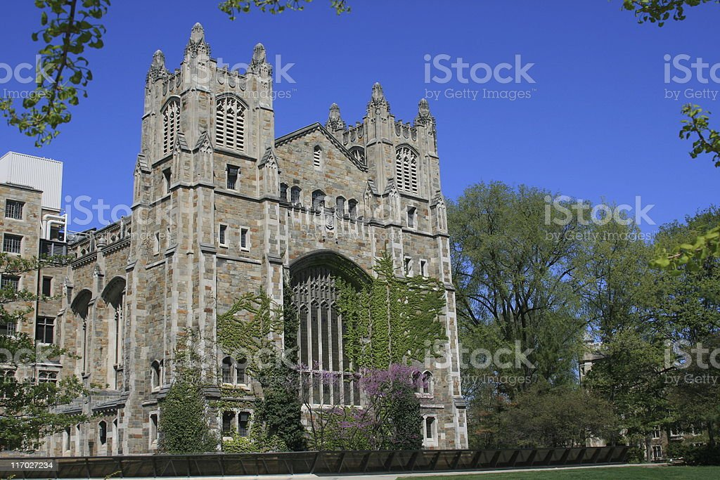 University of Michigan Law School, Ann Arbor. Clear blue sky. royalty-free stock photo