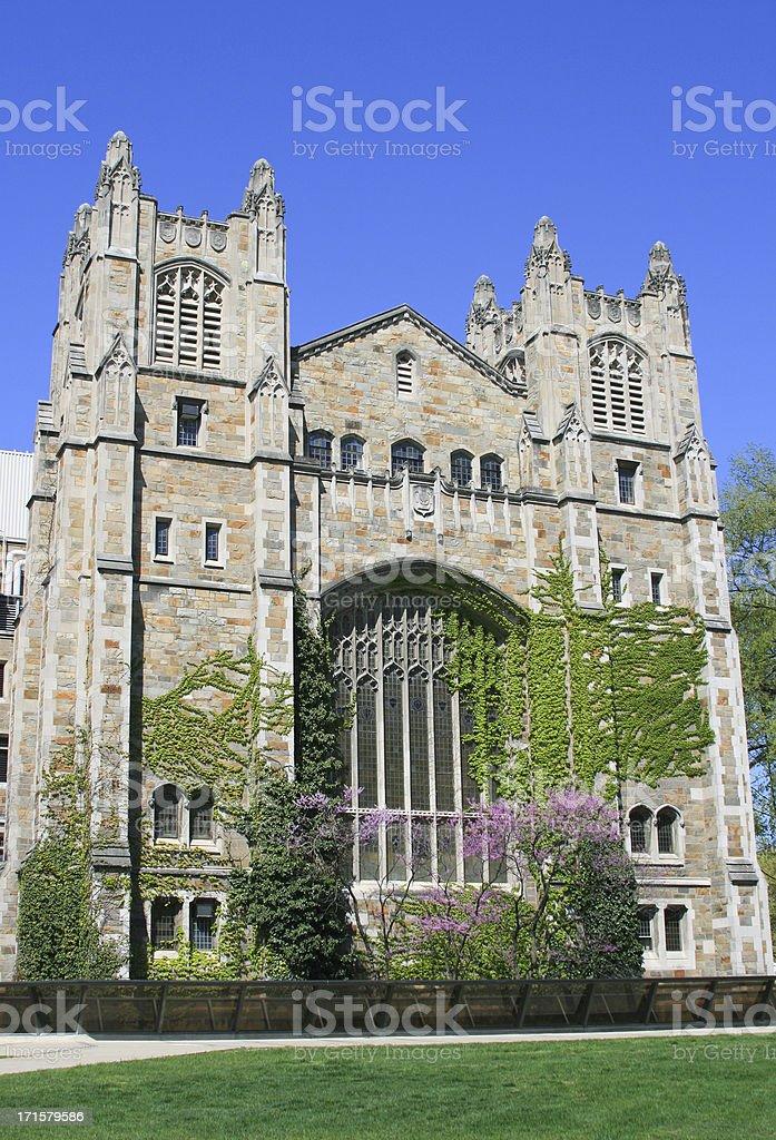 University of Michigan Law School, Ann Arbor, Clear blue sky. royalty-free stock photo
