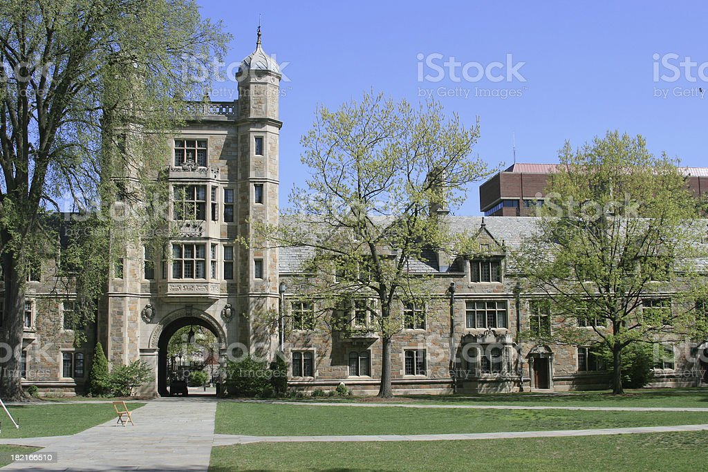 University of Michigan Law School, Ann Arbor. Clear blue sky. royalty-free stock photo