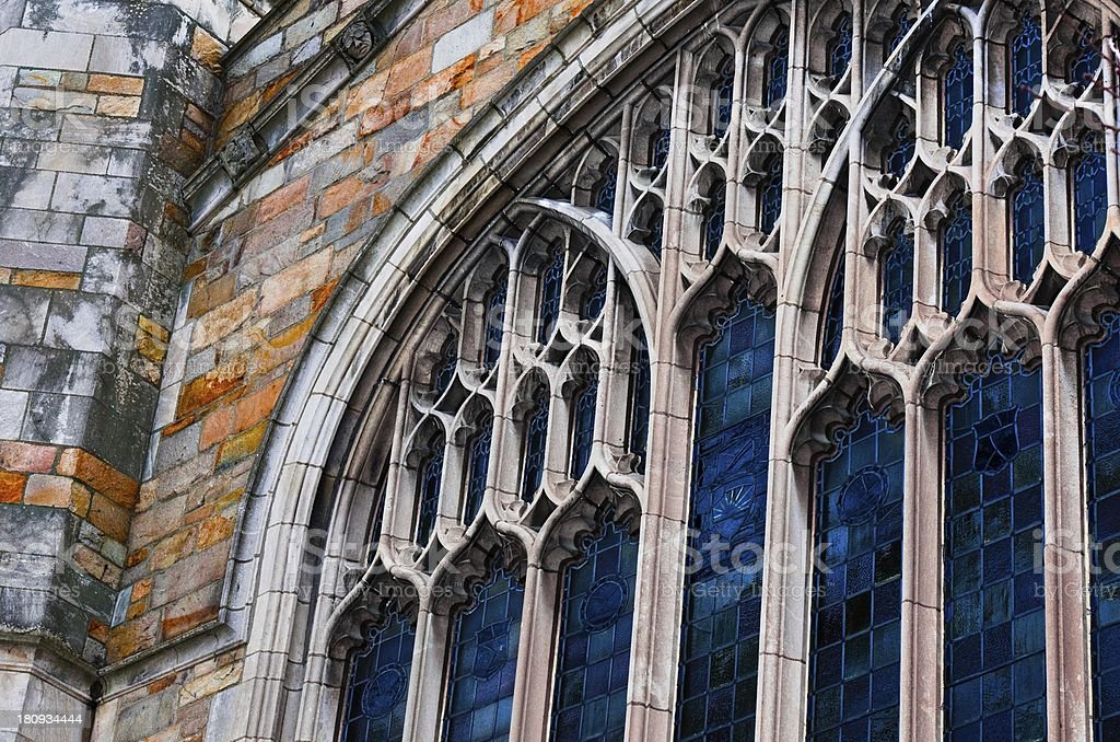 University of Michigan, Law School, Dining Hall Windows royalty-free stock photo