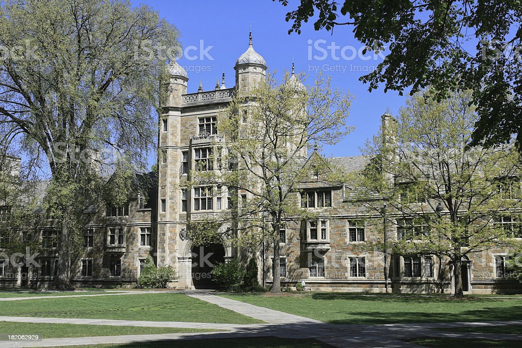 University of Michigan Law school royalty-free stock photo