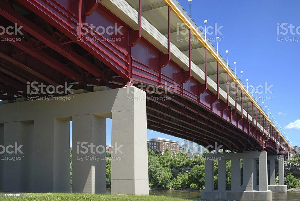 University of Minnesota bridge royalty-free stock photo