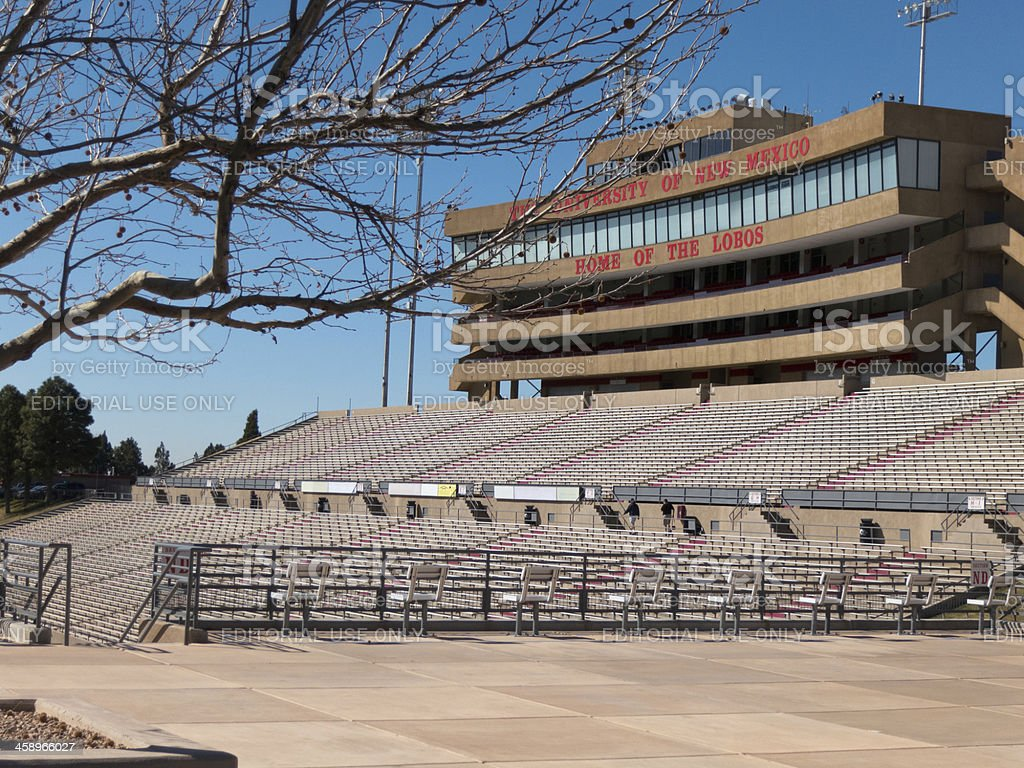 University of New Mexico football stadium stock photo