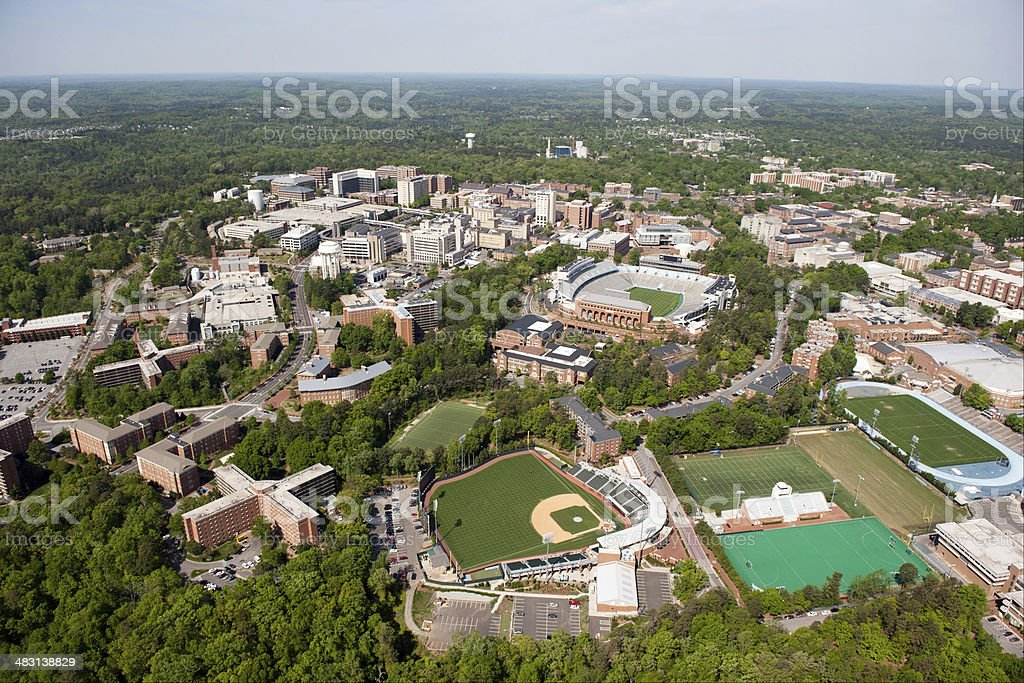 University of North Carolina - Aerial View stock photo