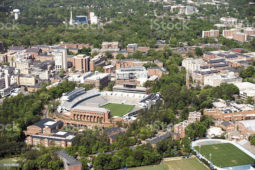University of North Carolina at Chapel Hill - Aerial View stock photo