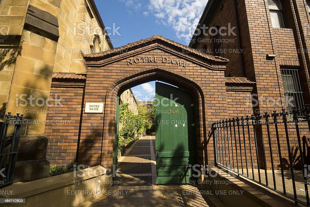 University of Notre Dame Australia stock photo