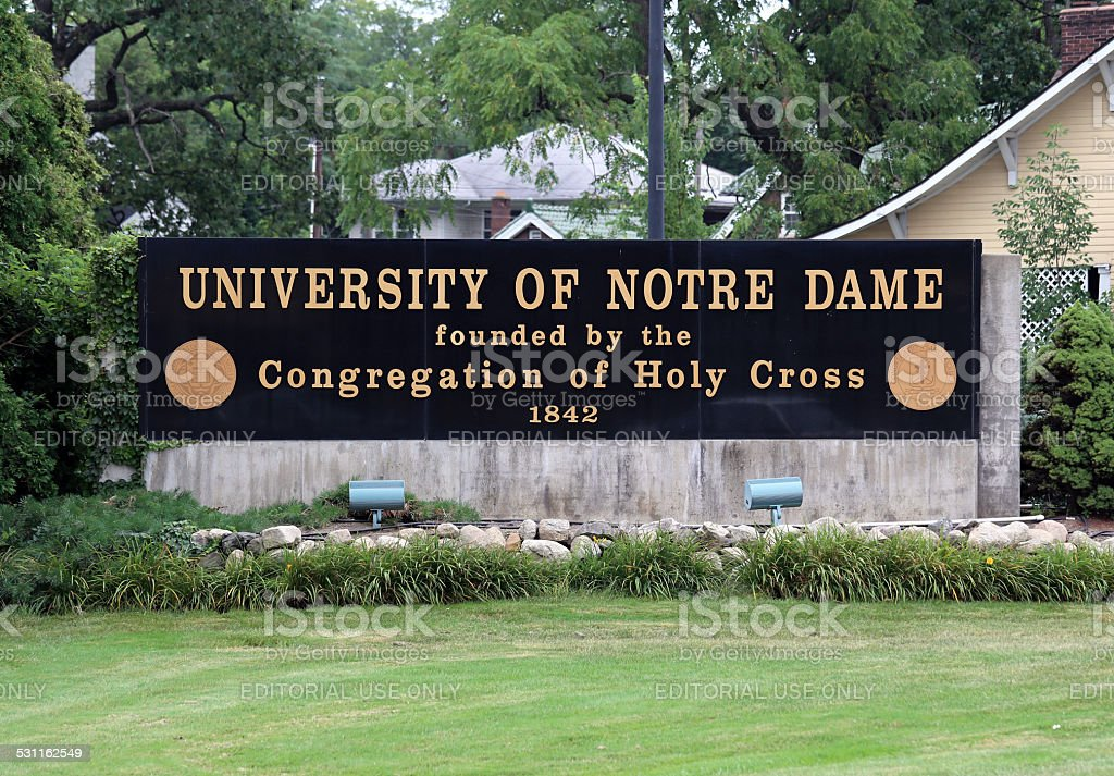 University of Notre Dame stock photo