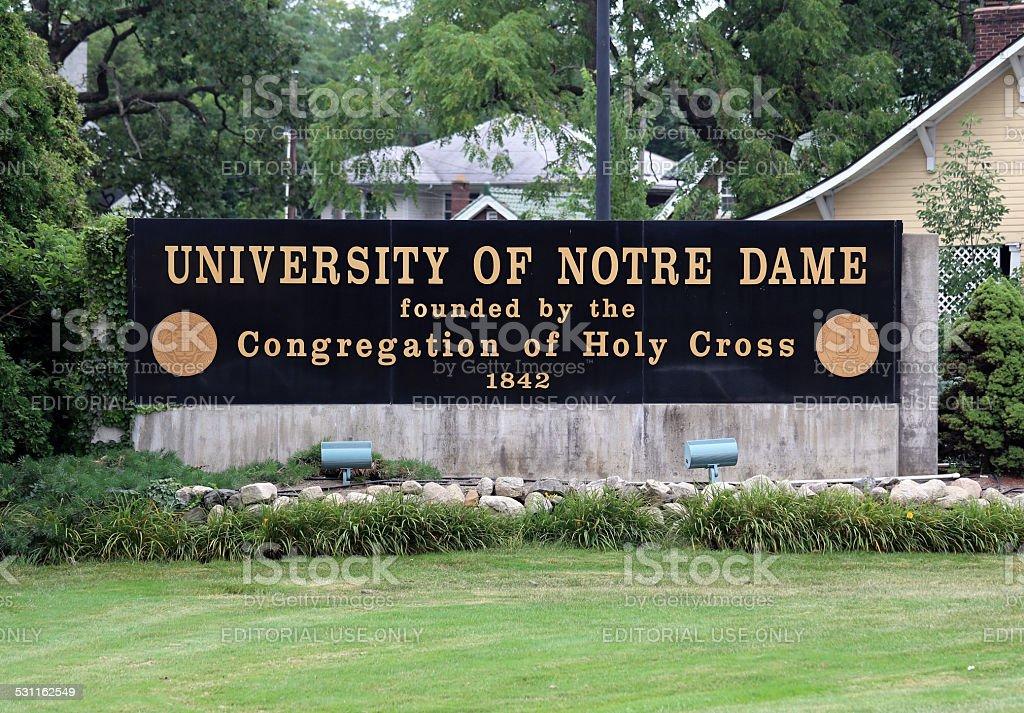University of Notre Dame stock photo