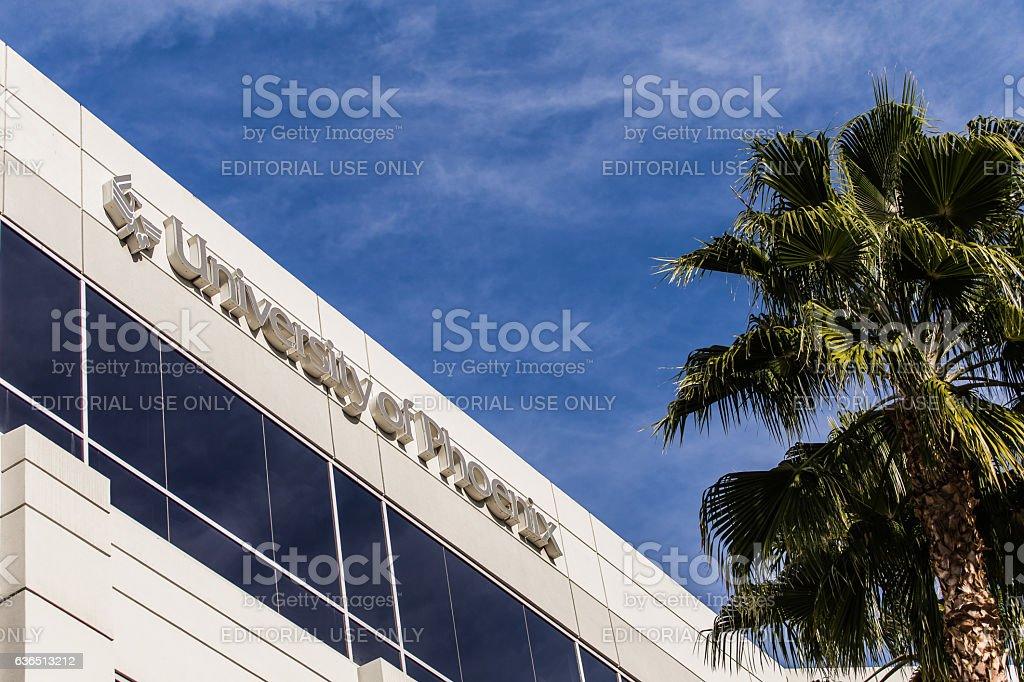 University of Phoenix building during for-profit battles stock photo