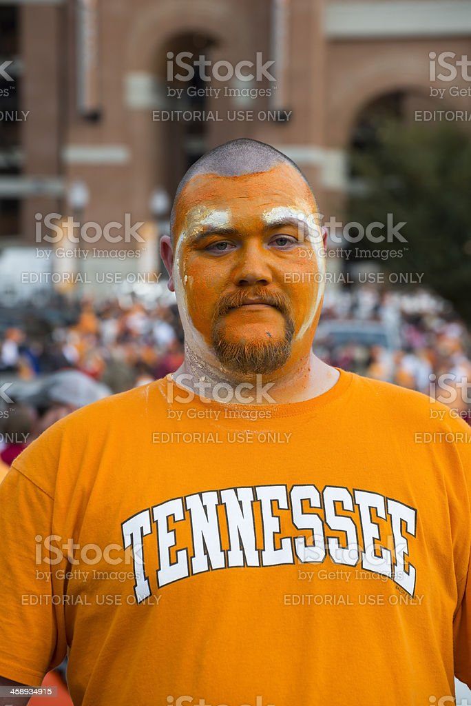 University of Tennessee football fan stock photo