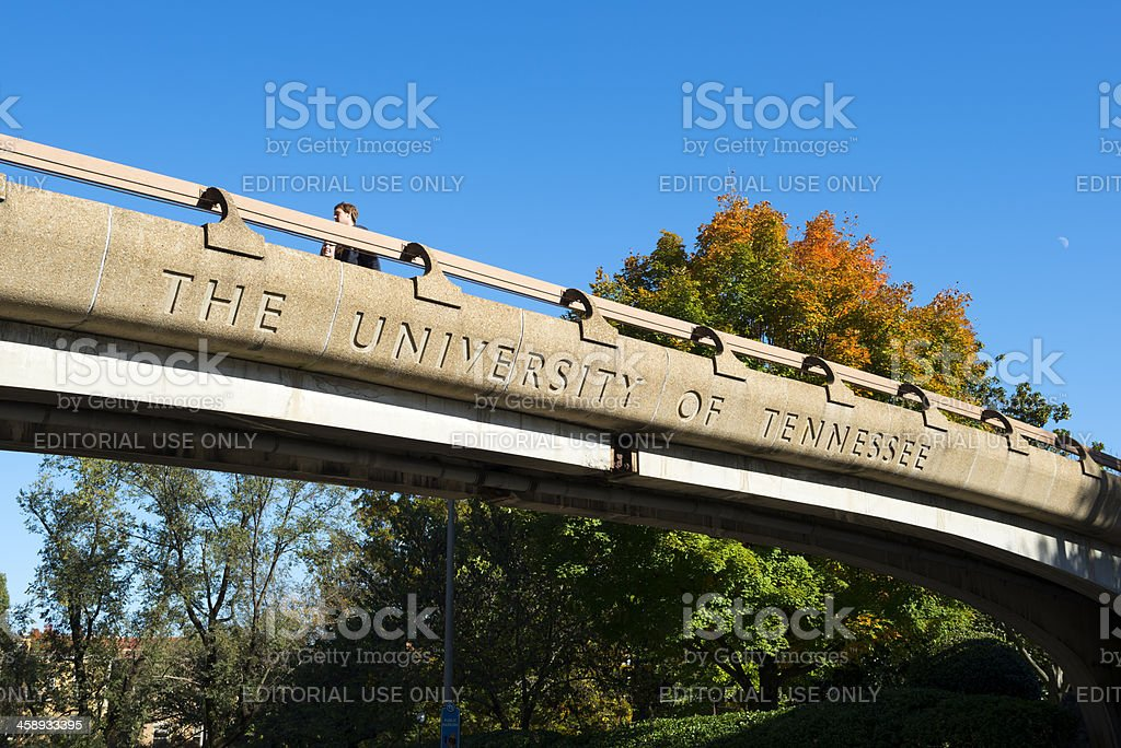 Students at University of Tennessee stock photo