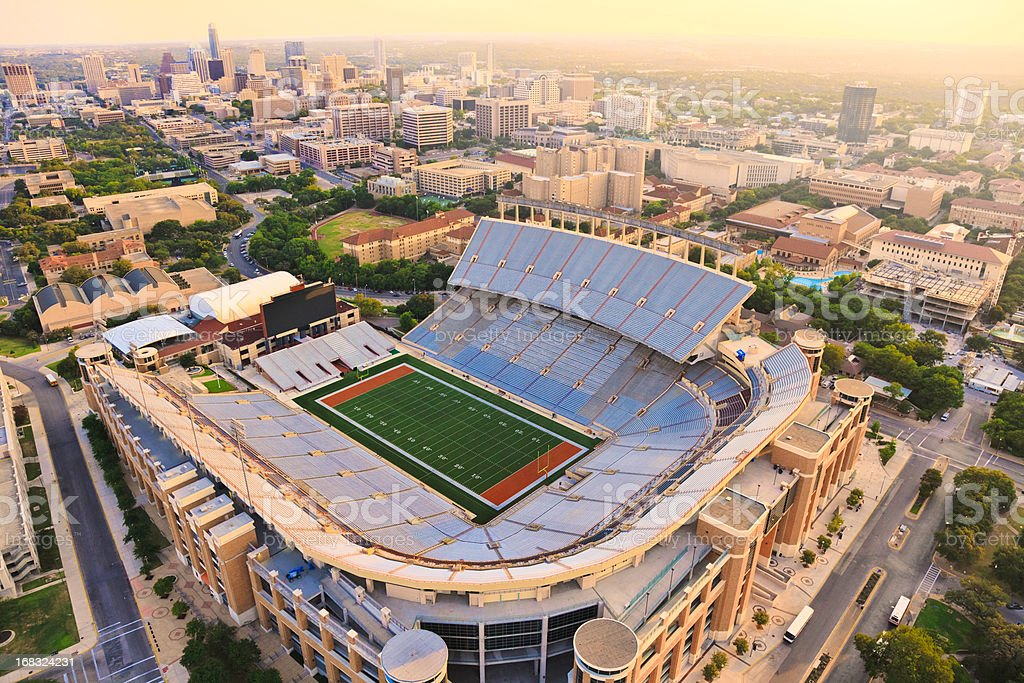 University of Texas Football Stadium - Aerial View royalty-free stock photo