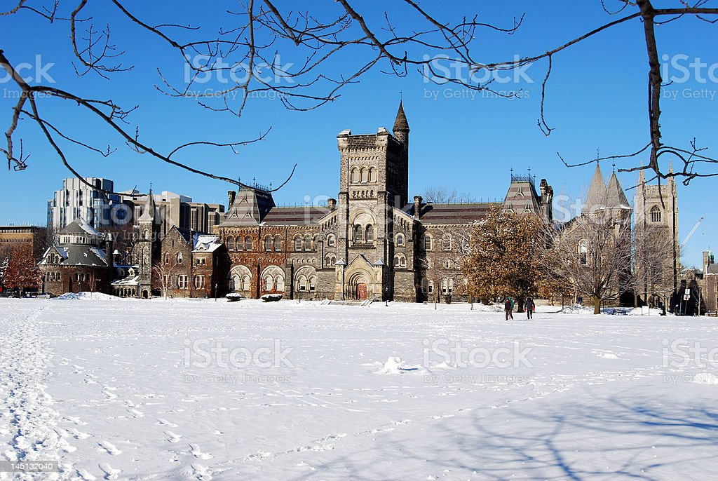 University of Toronto in winter stock photo