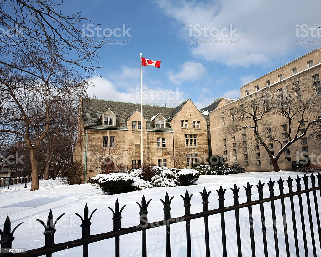 University of Toronto in Winter royalty-free stock photo