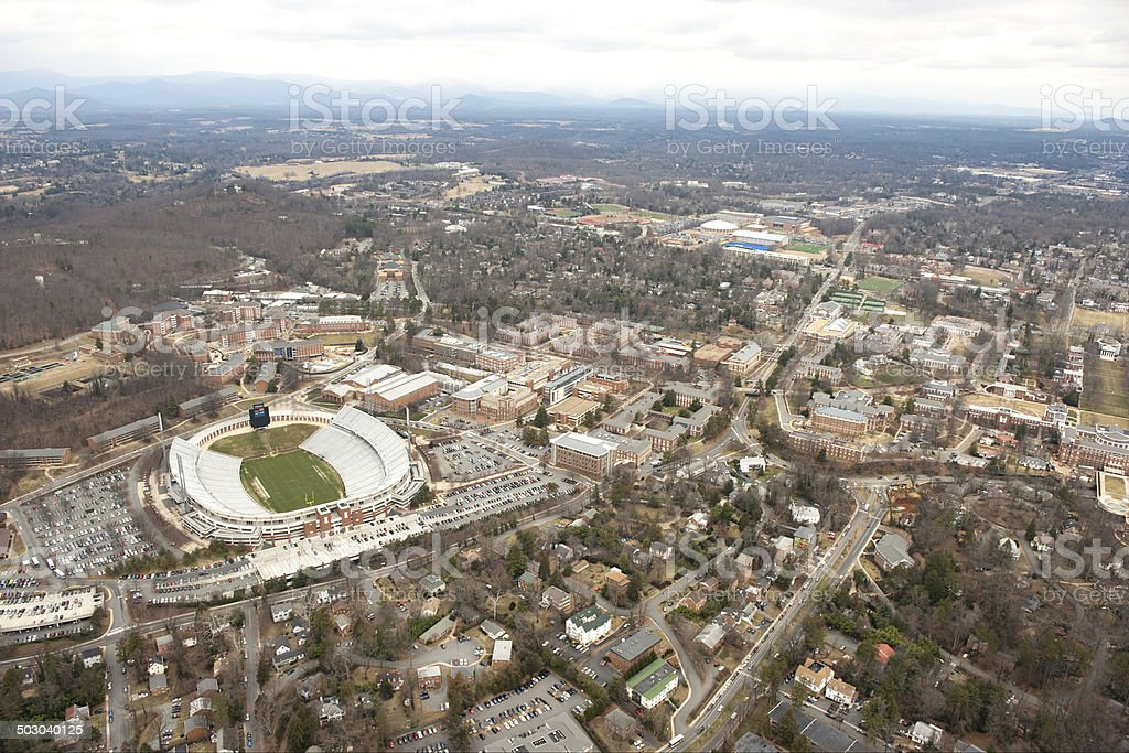 University of Virginia Campus - Aerial View stock photo