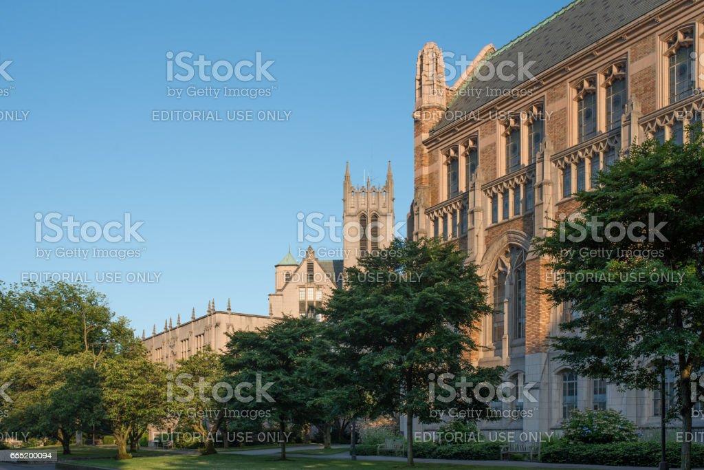 University of Washington campus in Seattle, WA stock photo