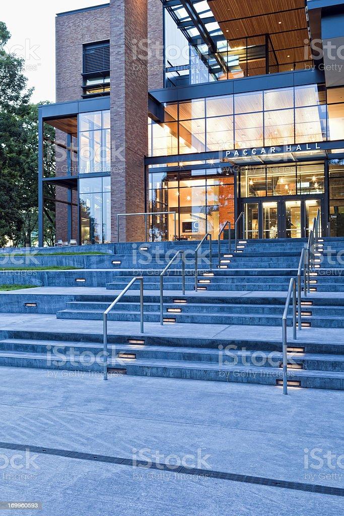 University of Washington Paccar Hall royalty-free stock photo