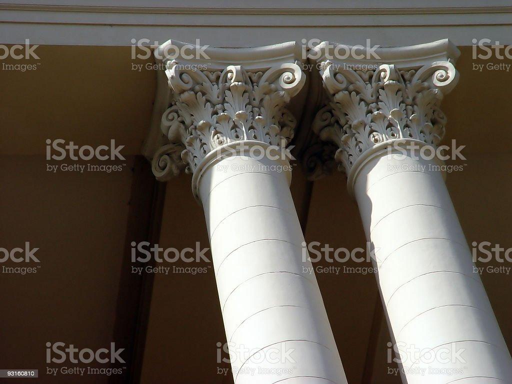 University pillars royalty-free stock photo